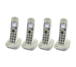 Four Handsets clarity d704hs 4pack